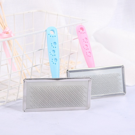 Wholesale pet brush comb grooming cleaning dog cat brush stainless steel needle comb pet supplies NHPSM443445's discount tags