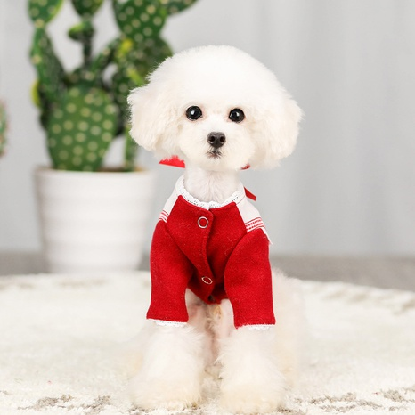 autumn and winter new cats and dogs college wind woolen coat pet clothes NHPSM443448's discount tags
