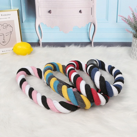pet knot rope toy cotton thread multi-color braided molar bite resistance interactive training multi-color  NHPSM443454's discount tags