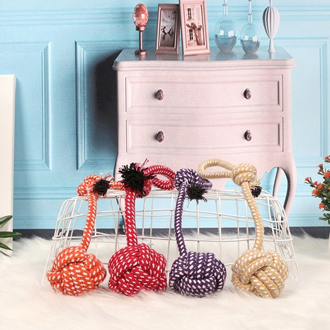 pet dog bite rope toy dog rope knot molar bite resistant cotton rope rope toy wholesale NHPSM443456's discount tags