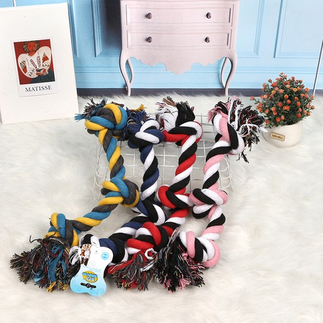 molar bite resistant pet interactive toy dog rope knot bite resistant toy cotton rope NHPSM443461's discount tags