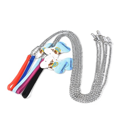 pet supplies dog leash twisted chain stainless steel foam handle dog leash  NHPSM443464's discount tags