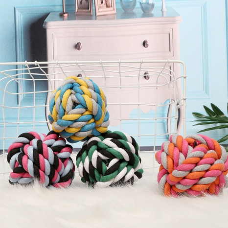 molar bite resistant pet interactive toy dog bite resistant toy cotton ball NHPSM443465's discount tags