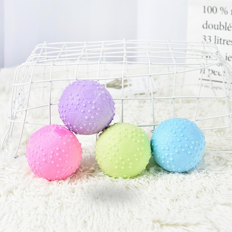 Dog toy bite resistant solid training ball large dog molar elastic rubber ball pet toy ball NHPSM443466's discount tags