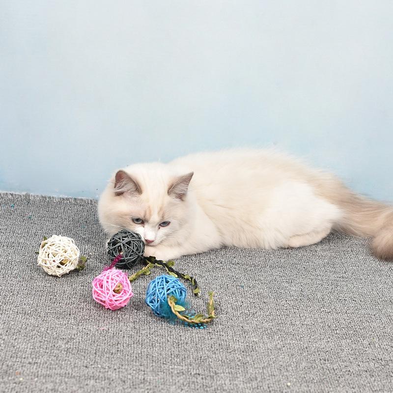 cat bells fun cat takraw toys bells woven ball toys cat supplies NHPSM443469