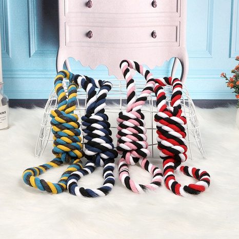 pet dog bite rope play dog rope knot molar bite resistant color double knot cotton rope interactive toy wholesale NHPSM443470's discount tags