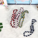 pet dog bite rope play dog rope knot molar bite resistant color double knot cotton rope interactive toy wholesale NHPSM443470