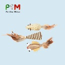 cat stick threepiece suit individually loaded mouse and fish pet toy NHPSM443471