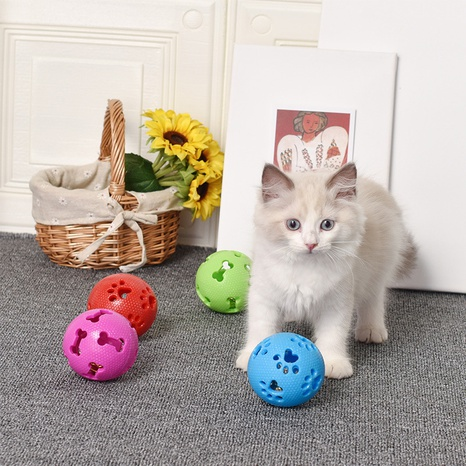 Dog Cat Pet Rubber Toy Leaky Ball Molar Biting Mint Flavor Ball  NHPSM443474's discount tags