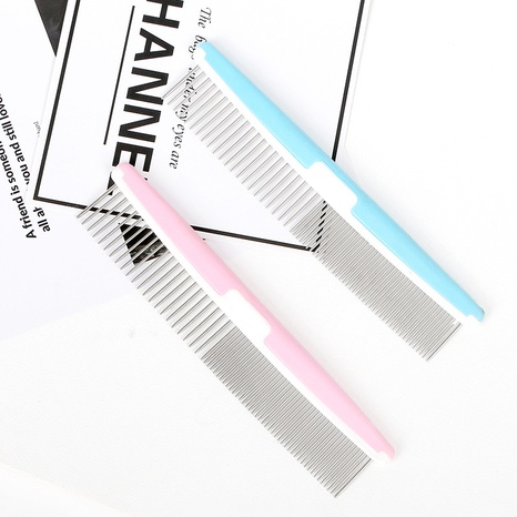 open knot hair removal pet comb pet straight steel comb shape special hair removal fluffy comb NHPSM443477's discount tags