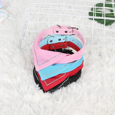 Dog triangle scarf PU collar adjustable pet scarf traction supplies wholesale NHZHX443613's discount tags