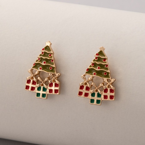 New Ornaments Color Christmas Tree Earrings NHGY445940's discount tags