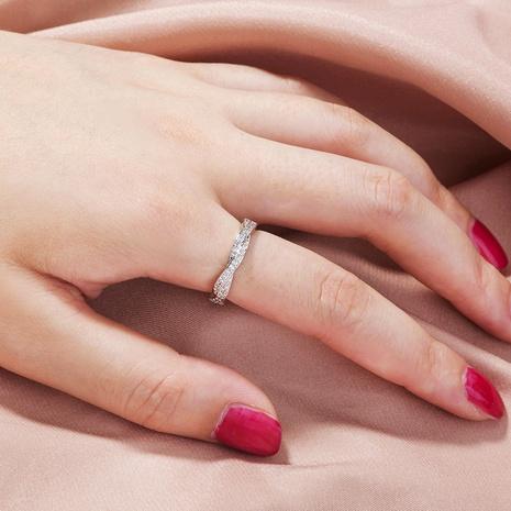 Anillo de moda de anillo anudado creativo retro de circonio brillante simple transfronterizo europeo y americano NHDB445450's discount tags