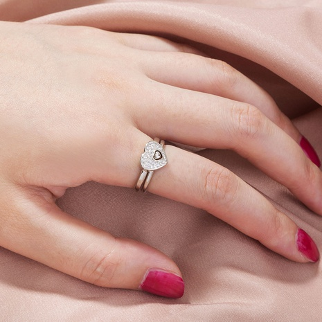 Modelos de explosión de moda europea y americana conjunto de anillo de amor de desbloqueo de novedad única NHDB445451's discount tags