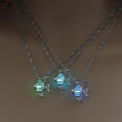 Fashion creative Korean diy luminous fish necklace beach ocean clavicle chain accessories wholesale NHDB445478's discount tags
