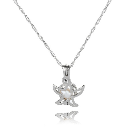 fashion new accessories natural freshwater oyster pearl sea hall star diy cage pendant necklace NHDB445480's discount tags