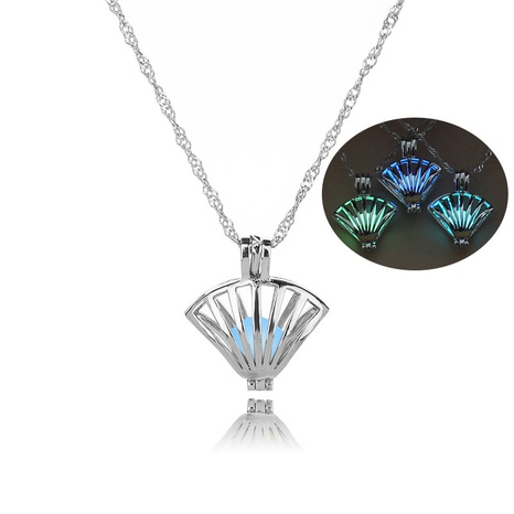 DIY Small Shell Cage Necklace Luminous Short Clavicle Chain NHDB445481's discount tags