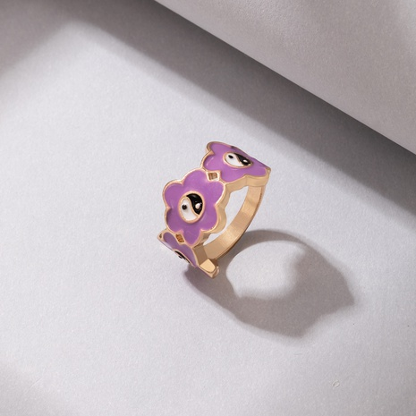 New Jewelry Purple Tai Chi Drop Oil Single Ring NHGY445934's discount tags