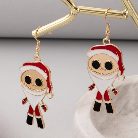2021 European and American new jewelry Christmas Santa Claus earrings NHGY445933's discount tags
