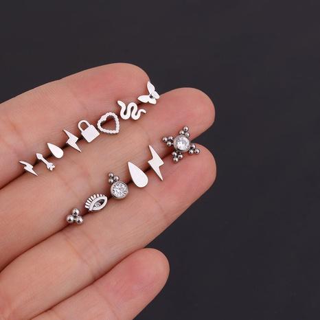 Mini boucles d'oreilles simples coréennes NHEN274555's discount tags