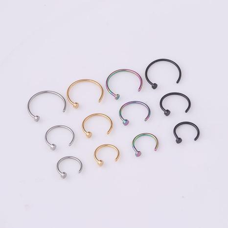 Clavo de nariz de acero inoxidable médico piercing popular NHEN263952's discount tags