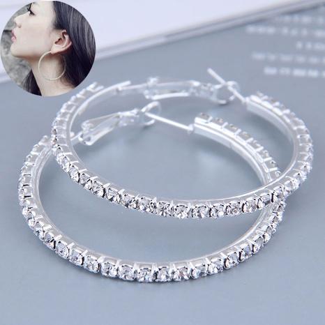 40mm fashion full diamond large circle high quality earrings NHSC445912's discount tags