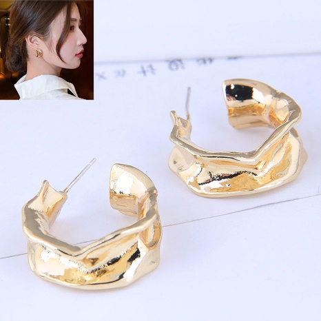 European and American fashion metal concise C shape earrings NHSC445908's discount tags