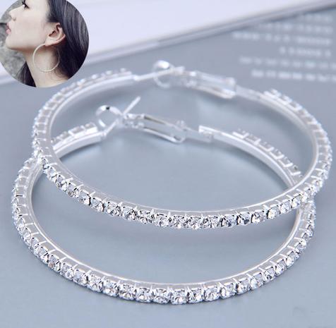 50mm Korean full diamond large circle high quality earrings  NHSC445911's discount tags