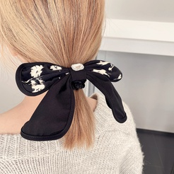 Korean new ink printing cloth art printing butterfly colon ring rubber band hair accessories headdress NHHI448698