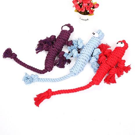 Nuevo juguete para masticar mascota cuerda de algodón perro lagarto cuerda de algodón juguete suministros para mascotas al por mayor NHSUJ448926's discount tags