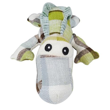 juguetes para mascotas nueva tela a cuadros lagarto de ojos grandes que suena juguete para perros al por mayor NHSUJ448929's discount tags