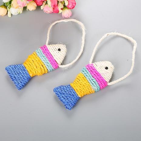 juguetes para mascotas sisal peces de colores juguetes para gatos juguetes de sisal suministros para mascotas al por mayor NHSUJ448935's discount tags