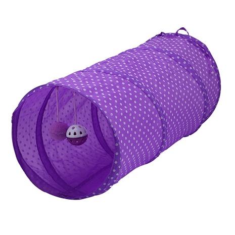 túnel de gato plegable de color sólido, canal de gato, suministros para gatos, selección de tres colores, campana de gato, bola, pompones, juguete NHSUJ448937's discount tags