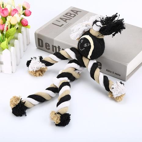 Juguete para mascotas de cuerda de algodón de tenis en forma humana para reducir el cálculo de dientes de perro juguete de entrenamiento de dientes de perro al por mayor NHSUJ448939's discount tags