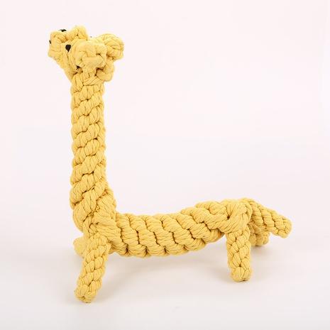 juguetes para mascotas roer mordedura tejida cuerda de algodón grande jirafa perro cuerda de algodón juguete al por mayor NHSUJ448949's discount tags