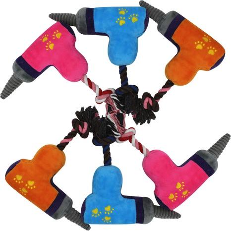 juguetes para mascotas nuevo producto de tres colores taladro eléctrico de peluche que suena juguete para perros al por mayor NHSUJ448956's discount tags