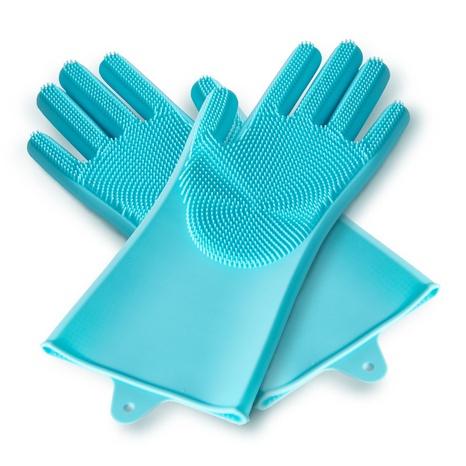 suministros para mascotas guantes de baño de silicona antirrayas para mascotas con guantes de espina convexa de masaje al por mayor NHSUJ448965's discount tags