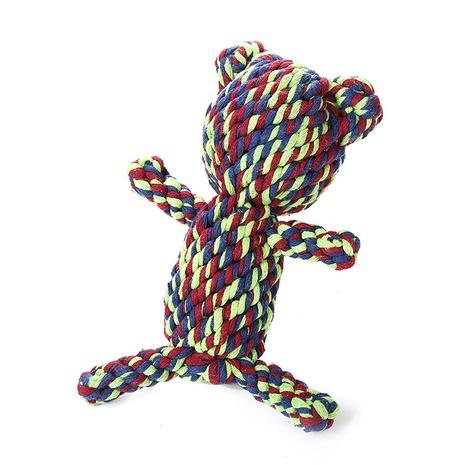 juguete para mascotas cuerda de algodón juguete tejido oso sin rostro juguete para perros suministros para mascotas al por mayor NHSUJ448973's discount tags