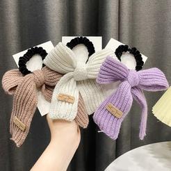 Cute Wool Bowknot Hair Rope Head Rope Ponytail Hair Rope Mori Hair Tie Rubber Band Head Accessories NHWB449429