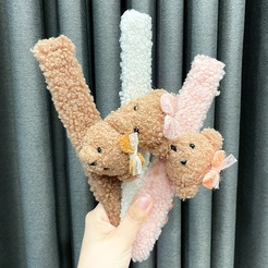 Cute little bear cartoon plush bracelet decoration slap ring hair rope doll hair ring children's toy NHWB449435