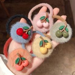 Korean tie hair cute headdress accessories hair cherry hair rope hair ring simple hair accessories rubber band NHPA449469