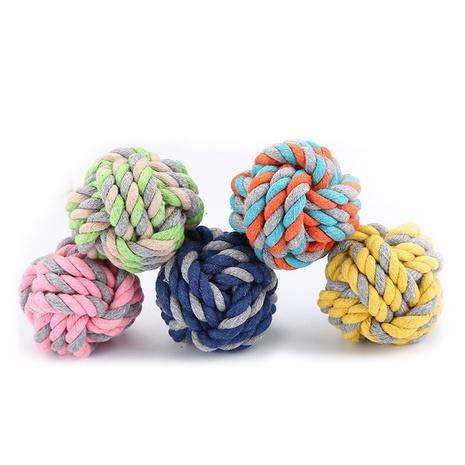 suministros para mascotas gran bola de cuerda de algodón cuerda de algodón juguete de entrenamiento perro mascota juguete al por mayor NHSUJ448936's discount tags