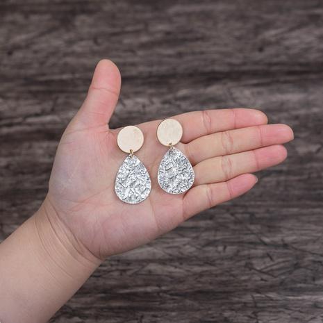 personality temperament long geometric size drop round earrings tassel copper earrings NHDB457185's discount tags