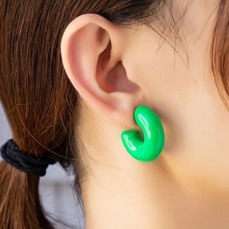 Korean trendy paint C-shaped basic earrings temperament candy earrings  NHGU457469's discount tags