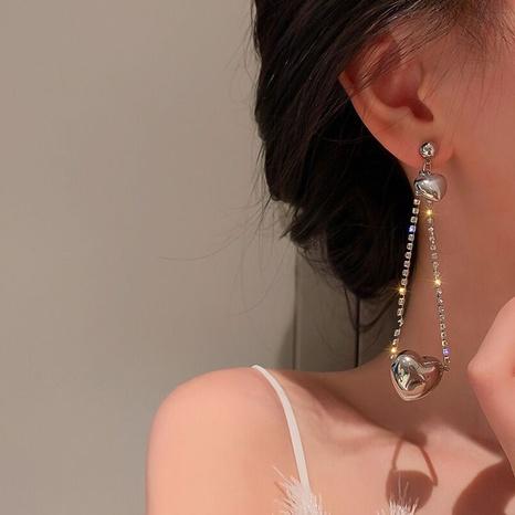 Korean heart long tassel earrings wholesale NHGI457768's discount tags