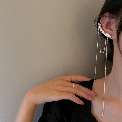 Fringed earrings female Korean version of long irregular earrings ear bone clip NHGI457793's discount tags