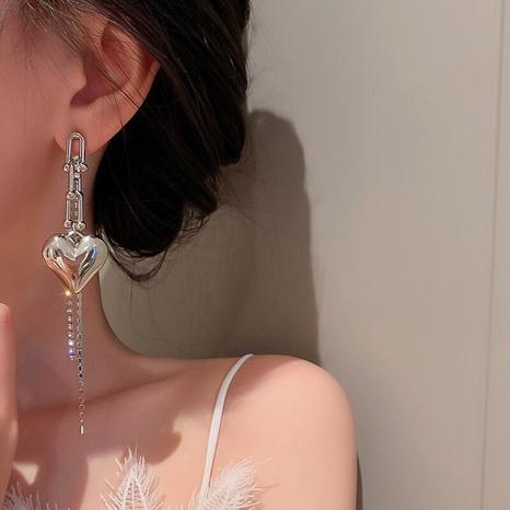 heart earrings female Korean long tassel earrings wholesale NHGI457797's discount tags