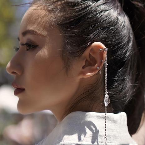 Tassel painless ear clip diamond ear bone clip NHGI457818's discount tags