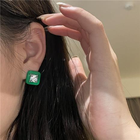 retro diamond geometric earrings retro wild personality copper earrings wholesale NHYQ458067's discount tags
