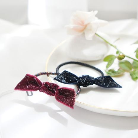 Fashion starry sky velvet Korean hair rope retro style ribbon bow hair rope  NHAYP458098's discount tags